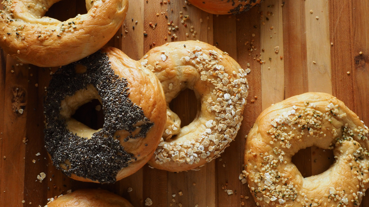 Montreal-style bagels on a board |Why You Should Take a Foodie Holiday in Canada